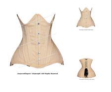26 Double Steel Boned Waist Training Cotton Underbust Tight Shaper Corset #8610