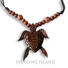 Halskette Anhänger Schildkröte Turtle Holz Amulett Handarbeit N244