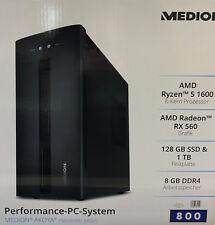 Medion MD34030 P56000 PC AMD Ryzen 128GB SSD 1TB 8GB Windows 10 Radeon Neu & OVP