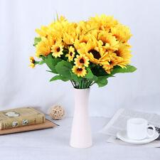13 Heads Yellow Sunflower Silk Flowers Bouquet Party Garden Christmas Decor  HF