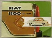 FIAT 1100 DE LUXE Car Sales Brochure 1958 #1523