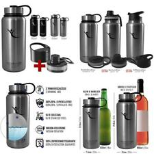 Drinking Bottle Active Flask Insulated Bottle + 3 Drinking Clasps | BPA Free - 1l/