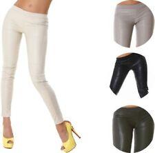 Damen-Leggings aus Synthetik mit Lack/Glanz Wet-Look