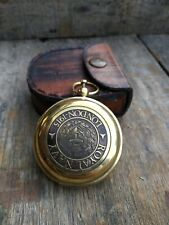 Brass Beautiful Nautical Royel Navy London- 1915 Authentic Compass With Case