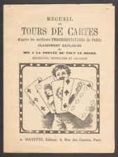 Recueil de Tours de Cartes. Mayette. Vers 1910 #2