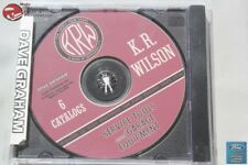 K R Wilson Service Tools Garage Equipment Six Volumes Catalogue Cd Rom Disc New