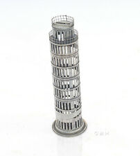 "Leaning Tower of Pisa Still Piggy Bank Architectural Metal Model 12"" Savings Box"