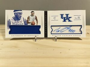 Willie Cauley Stein 2015 National Treasures Booklet Patch Auto /99 Kentucky