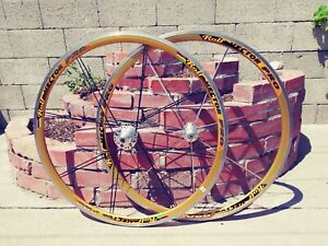 Rolf Vector PRO Gold Anodized  700C Wheelset  8, 9, 10 spd. Bulletproof and lite