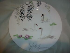 Nina Campbell England Roy Kirkham Swan Small Plate Dessert Salad Fine Bone China