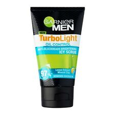 100ml GARNIER MEN TurboLight Oil Control Anti-Blackhead Brightening Icy Scrub