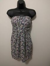 "preloved ""Dotti"" floral strapless dress size 8 in excellent condition"