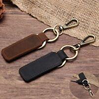 Detachable KEY CHAIN & LEATHER Belt Loop Key Holder Ring Keychain Keyring Keyfob