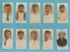 More details for cricket - nostalgia repros  (of wills) - 10 sets of 50 wills cricketers of 1896