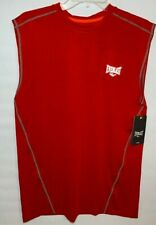 Everlast Sport Men's Athletic Training Tank Top Size Medium Fitted Red Grey Nwt