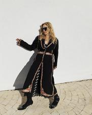 GIAMBATTISTA VALLI x H&M BLACK COAT WITH EMBROIDERY SIZE M