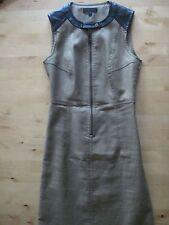 BELSTAFF khaki and leather dress, size 36