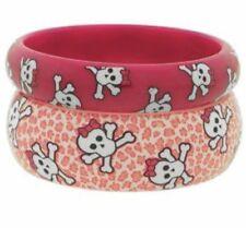 Pink Cookie Rosa Leopardo Impresión Cráneo Brazaletes