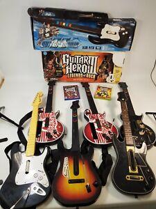 7 x Guitar Hero Rockband Guitars Nintendo Wii Xbox 360 PS3 Playstation Bundle
