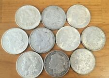 Lot 10 (1/2 Roll) Morgan Silver Dollars Choice XF/AU Nice!