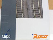 Roco H0 42522 /5er Paket/ gebogenes Gleis Bettung R2 r= 358 mm 30° OVP (y6328)