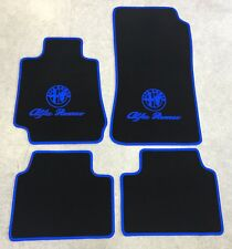 Autoteppich Fußmatten für Alfa Romeo Giulia 952 schwarz blau Velours 4teilig Neu