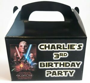 Personalised Star Wars The Last Jedi cake / party boxes
