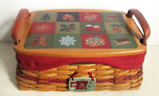 Longaberger Christmas Collection 2002 Edition Traditions Basket Combo Lid Liner