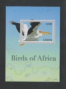 Liberia - 2007, $100 Birds in Africa, Pelican sheet - MNH