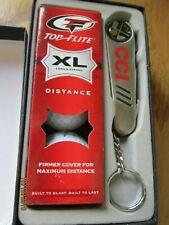 New Golf Set Cci Key chain Knife & Golf accessories & 4 balls Gift set Top Flite