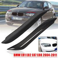 2x Scheinwerferblenden Böser Blick Carbon Farbe Für BMW E81 E82 E87 E88 04-11 ^