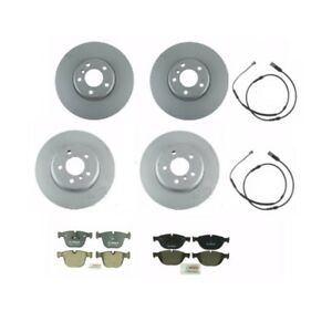 BMW 740i ActiveHybrid 7 Front and Rear Disc Brake Rotor & Pads w/ Sensors Kit