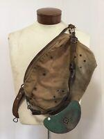 Vtg 1940s Fishing Creel Penn Fishing Tackle Canvas & Leather
