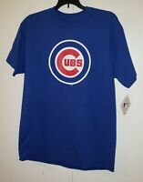 Chicago Cubs Plain Logo NEW Mens Blue T-Shirt MLB Team Athletics