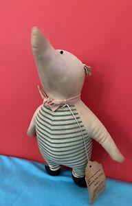 1950's  Agnes Brush Winnie The Pooh PIGLET PIG *ORIG TAG!* Stuffed Doll Rare
