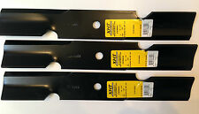 """3 x ride-on mower blades for FERRIS 48"""" Cut Ride ons - xht, very very hard blade"""