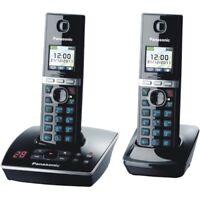 Panasonic KX-TG8062GB, hochglanz schwarz Festnetz-Telefon strahlungsarm