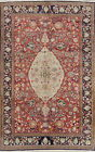 Vintage Floral Traditional Oriental Area Rug Hand-knotted Wool Red Carpet 6x10