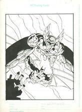 BATMAN & HAWKMAN DC COMICS TRADING CARD ORIGINAL ART PAGE PINUP SPLASH ARTWORK