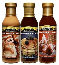 Walden Farms Caramel / Blueberry / Strawberry Syrup – 3 bottles (1 Each Flavor)
