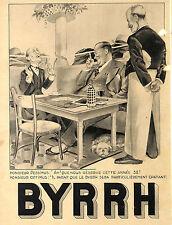 APERITIF BYRRH DESSIN GEORGES LEONNEC AU CAFé BISTROT PUBLICITE ADVERTISING 1938