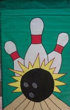 New listing Bowling Standard Applique House Flag by Nce #20549