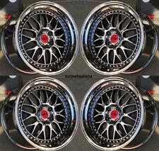 "18x9.5 18x10.5"" ESR SR01 5x114.3 +22 Black Chrome Wheels For Hyundai Genesis Cp."
