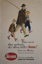 """""""CHAUSSETTES STEMM"""" Affiche originale entoilée M. ROUSSEAU vers 1960"""