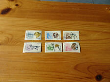 STAMPS  SHQIPERIA  6 STAMPS  ALL DIFFERENT DOGS