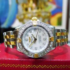 Breitling Callisto Stainless Steel Gold Quartz White MOP Diamond Watch B72345