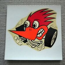 Original Vintage Dean Jeffries Woodpecker On Wheels Water Decal Nice Hot Rod