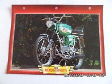 CARTE FICHE MOTO MALAGUTI OLYMPIQUE V4 1974
