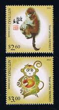 Aitutaki 2016 Year of the Monkey Postage Stamp Set Issue