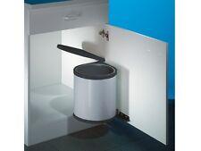 Wesco Einbau Abfallsammler Rondo 1, silber, 11 Liter, Küchen Schwenk Mülleimer